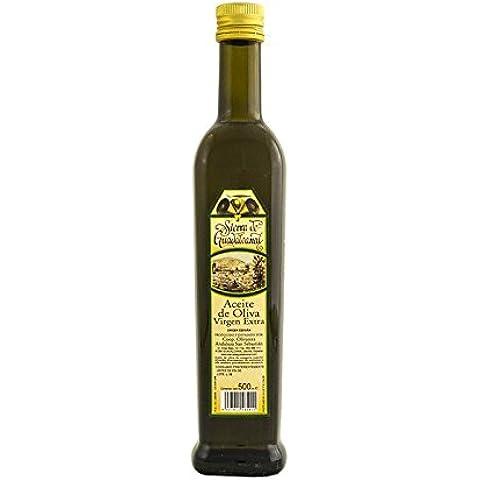 Aceite de Oliva Virgen Extra. Sierra de Guadalcanal 2016. Botella. Cristal. Negra. 500 CC