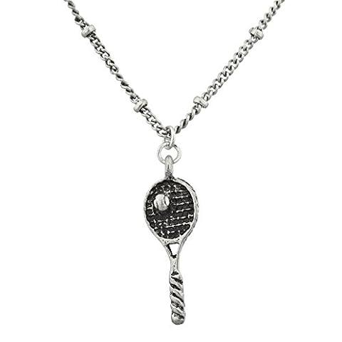 Lux Accessoires Burnish Argent Raquette de tennis et sports de