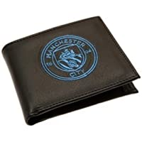 Manchester City Crest Embroidered Leather Wallet - Multi-Colour