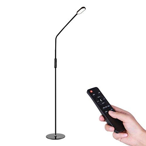 ICOCO Lampada da Terra a LED 9W Telecomando Remoto Controllo 1.74m Altezza Regolabile, 5 Livelli di luminosità, 5 Colori di Temperatura per Casa, Ufficio, Studio