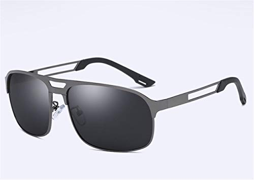 YINshop Die Sonnenbrille der Männer, Dünnschnitt-Edelstahl polarisierter quadratischer voller Rahmen für das Fahren der Fischen-Reise B