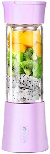 GPWDSN Wiederaufladbare Entsafter Mixer, Tragbarer Haushalt Mini Entsafter Elektro Obst Und Gemüse Entsafter Saftpresse