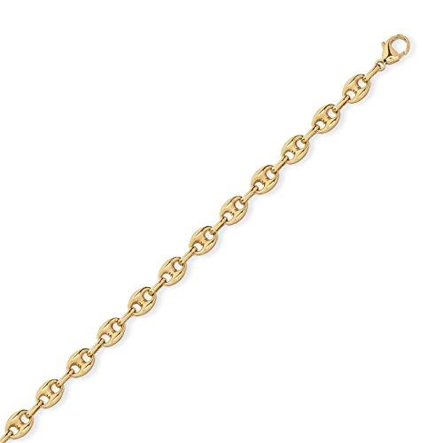 Armband Gold Herren Kaffeebohne 6mm 21.0cm vergoldet 750/1000° (18Karat) Diamantly