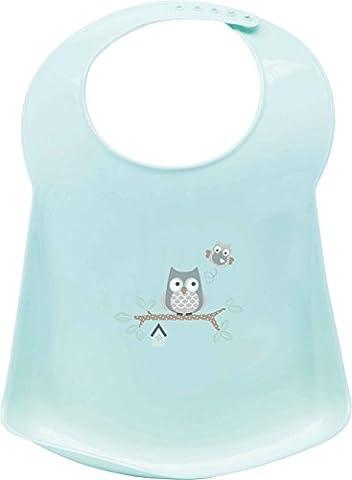 Bébé-jou 655832 Bavoir en plastique pour bébé Motif famille hiboux