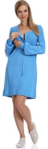 Be Mammy Damen Umstandskleid P4L4 (Saphir, L/XL)