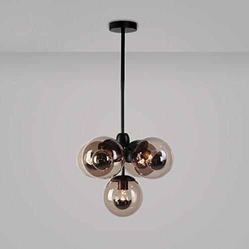 SXFR-ZN Weinlese-runde Ball-industrielle LOFT-Eisen-hängende Lampen-Zelle Mordern Droplight mit Glasrunder Ball-klassischen LED-Pendelleuchte ( ausgabe : Plating light source )