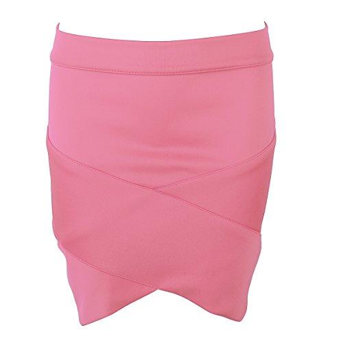 SUNNOW® Sexy Damen Röcke Kreuzgurte Enge Röcken Frauen Paket Hüft Rock Kurz Pink
