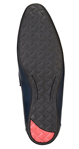 Adreno faux cuir les appartements des hommes glissent sur des chaussures intelligentes occasionnels - taille disponible Noir