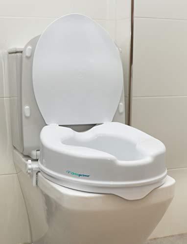 OrtoPrime Elevador wc Con Tapa | Altura 10 Centímetros