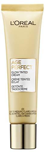 L'Oréal Paris Age Perfect Getönte Tagescreme Hell bis Mittel 01, feuchtigkeitsspendend für...