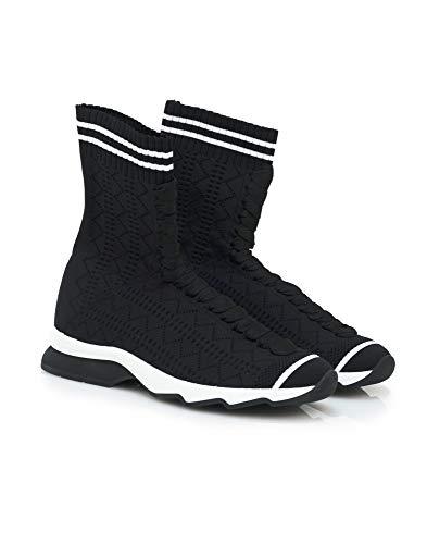 Sneakers Damen Boot Fendi Schwarz, Schwarz - Schwarz - Größe: 37.5 EU