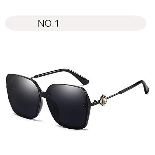 Yiph-Sunglass Sonnenbrillen Mode Aviator Sonnenbrillen der Frauen übergroße Schutzspiegel-Sonnenbrille der Art und Weise UV400 (Farbe : NO.1, Größe : Free Size)