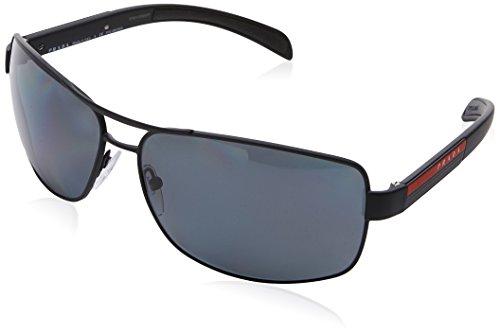 Prada Sport Herren 0PS54IS DG05Z1 65 Sonnenbrille, Schwarz (Black Rubber/Polargrey)