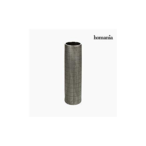 Vase Céramique Argent (16 x 16 x 59 cm) by Homania