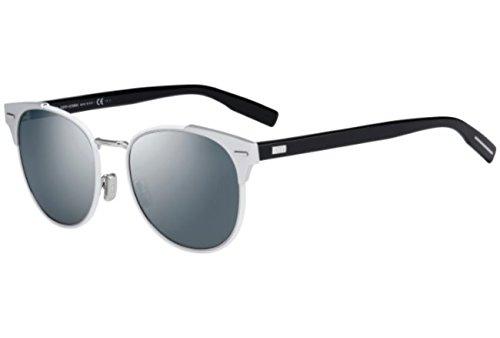 Safilo Design (Christian Dior - DIOR 0206S, Rechteckig, Metall, Herrenbrillen, SILVER WHITE BLACK/SILVER MIRROR(SVM/QU), 54/19/150)