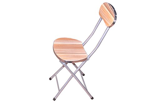 Home Portable Seating Multipurpose Wooden Folding Chair (Brown)