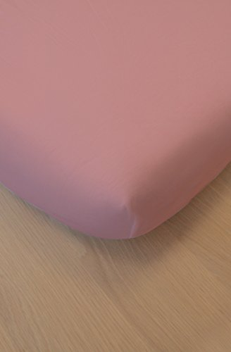 Kadolis Cotton Spannbetttuch - Wiege/Band 40 x 80 cm Blassrosa