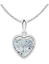 064149e5c68d Emma Gioielli - Collar Para Mujer Chapado en Plata Colgante Corazón Cristal  Swarovski Elements Blanco