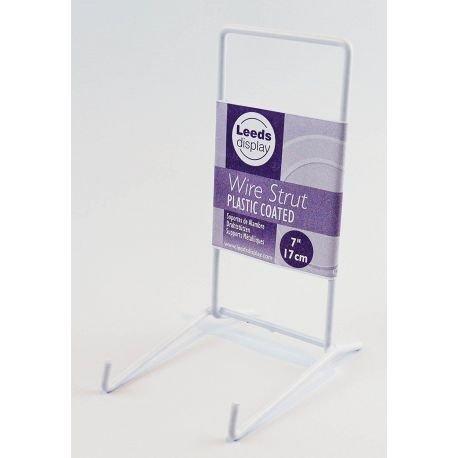 Draht groß Tellerständer, Aufsteller, Weiß kunststoffbeschichtet Ständer, für 17.5cm-35cm (Großes Display-ständer)