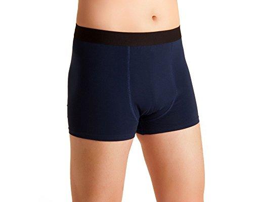 Herren Inkontinenzshorts, Männer Inko-Shorts, blau-schwarz, waschbar, für Tagesinkontinenz, mit Saugeinlage, ActivePro Men, Gr.XL - Männer Für Inkontinenz-unterwäsche