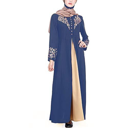 688e02fd30a JURTEE Robes Longues Femmes éTé Abaya Dress Jilbab VêTement Islamique Maxi Robe  Musulmane Burqa Robes De
