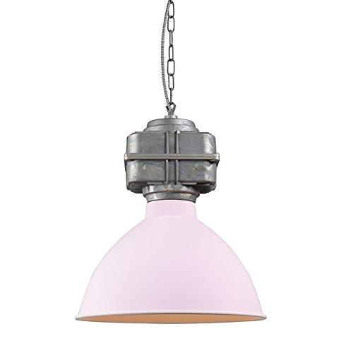 QAZQA Industriel Suspension/Lustre/Luminaire/Lumiere/Éclairage Sicko petite rose saumon Metal Rond Compatible pour LED E27 Max. 1 x 60 Watt/intérieur/Cuisine