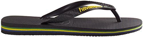 Havaianas–347134045. Brasil Logo, SANDALEN, Unisex Nero(Black)