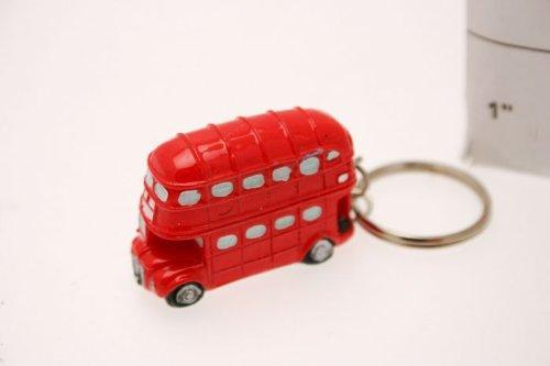 London Bus glänzend massiv Keramik Schlüsselanhänger-Tolles Preis -