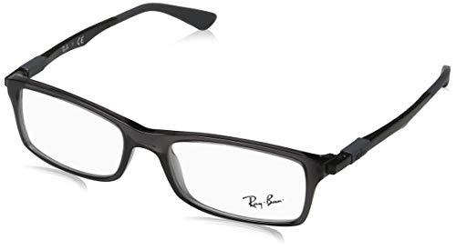 Ray-Ban Herren 0RX7017 Brillengestelle, Grau (Transparente Grey), 52