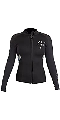 2018 Gul Response Womens 3mm Bolero Wetsuit Jacket Black / Lines RE6305-B4 from GUL