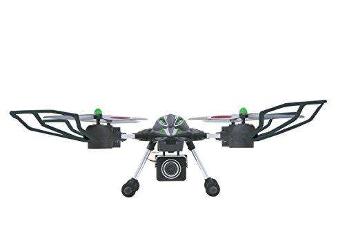 Jamara 422006 – Oberon Altitude AHP HD Kamera Quadrokopter, schwarz/grün