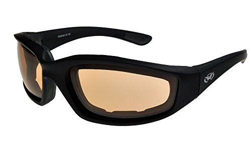 Global Vision Eyewear Triomphant de sécurité Lunettes de soleil avec brillant Orange cadres et verres miroir Flash DR4tDc