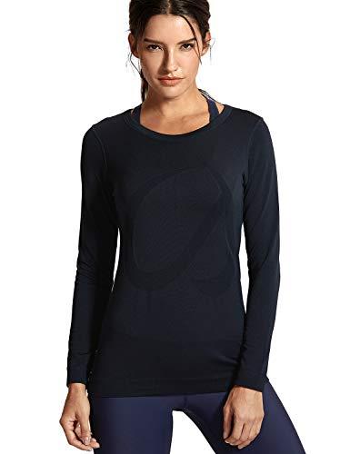 CRZ YOGA Mujer Ropa Deportiva Sports Casuales Camiseta sin Costura Man