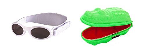 Preisvergleich Produktbild Coffret cadeau de bébé Lunettes de soleil Etui Vert Crocodile et blanc BabyBanz Lunettes de soleil 0-2ans