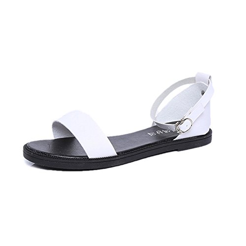 Longra Donne Sandals Buckle Bianca