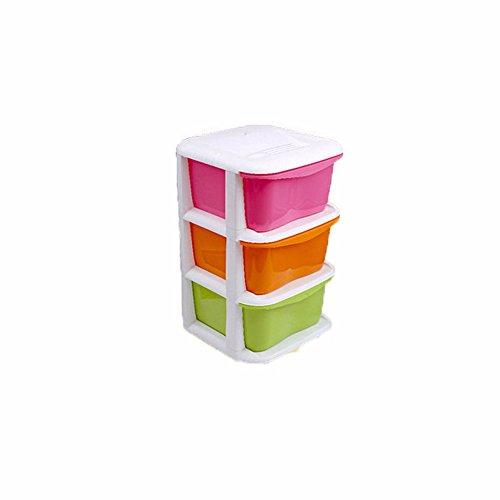 MEICHEN-Home cucina bagno camera da letto di plastica multistrato giocattolo per bambini è armadi e cassettiere armadietti baby armadio,Colore,l'3 piano