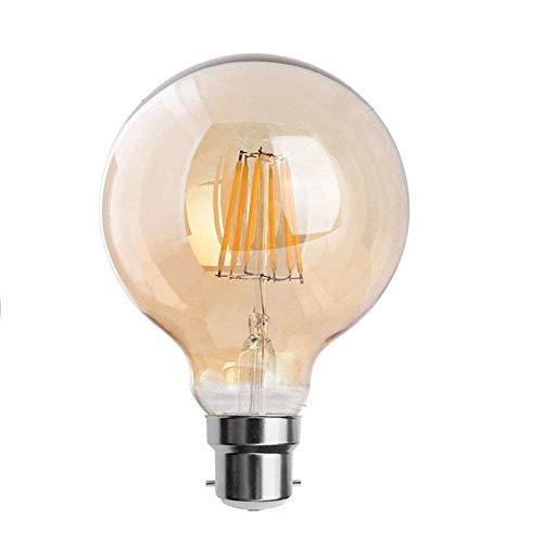 Bombillas de filamento vintage industrial Retro Edison LED de 8 W B22 bombillas de bayoneta de alta calidad ✔100% nuevo. ✔ Luces LED de alto efecto y ahorro de energía, también larga vida útil. ✔Diseñado estándar B22 socket, instalación sencilla. ✔ Á...