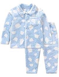 e71afac8a Conjunto De Pijamas,para Niños Ropa De Algodón Tela Cómoda Coral Polar  Servicio De Hogar