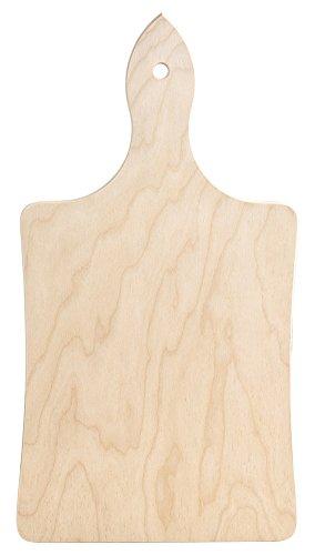 Home classico tagliere con manico, 30x15 cm, legno, marrone, 30x14x2 cm