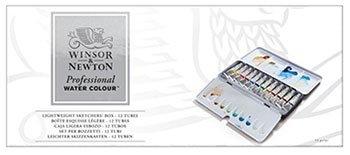 W- & -N Aquarell: Lightweight Metal Sketchers Box: 12x5ml tubes Satz (Sketcher-box)