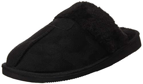 Welzenter Relax Fur, Zapatillas de casa para mujer, Negro (Negro 107), 39 EU