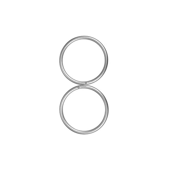 """Topind 3"""" Large Size Aluminium Baby Sling Rings for Baby Carriers & Slings of 2 pcs Silver TOPIND Great replacement aluminium rings for your baby sling rings Get a much more intimate way to touch your baby You can choose the color you like 1"""