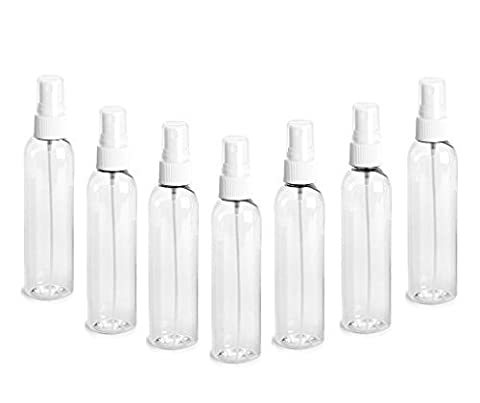 Grand Parfums Plastic 4 Oz Bottle Collection Clear Pet Cosmo Plastic Bottle (Pba Free) 4 Oz W/ White Fine Mist Spray Atomizer (3 Bottle Pack) By Grand Parfums