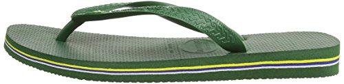 Havaianas Brasil Amazonia Green Mens Flip Flops Size UK 9/10