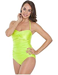 57d44b2245 Seaspray SY006286A Women's Yellow Solid Colour Costume One Piece Swimsuit