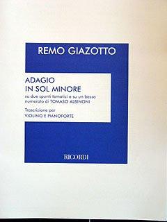 Universal Music Publishing Casa Ricordi Adagio G-MOLL - arrangiert für Violine - Klavier [Noten/Sheetmusic] Komponist : ALBINONI Tomaso