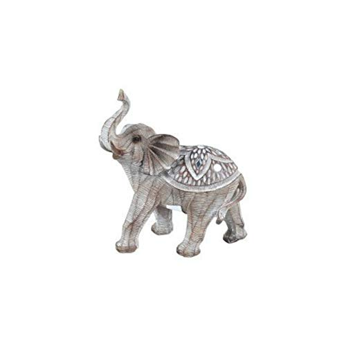 CAPRILO Figura Decorativa de Resina Elefante Indio Étnico Adornos y Esculturas. Animales....