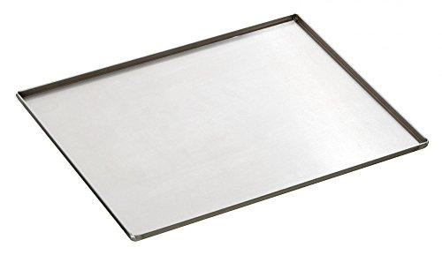 PLAQUE CUISSON FOUR INOX avec 4 bordures latérales 1.5 mm