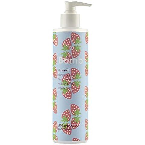 Bomb Cosmetics lavaggio a mano, fragole e panna