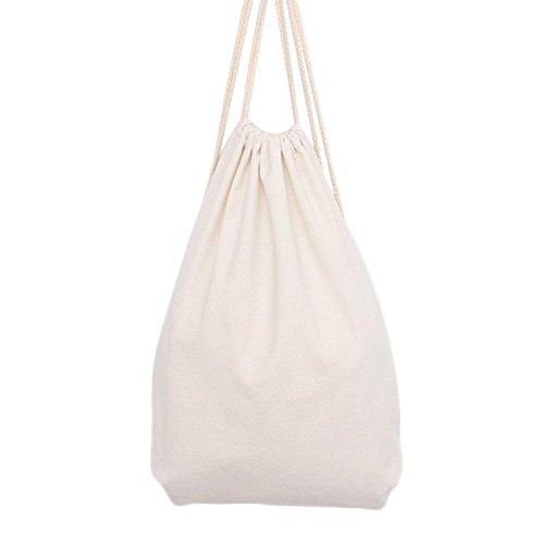 Westeng Zaino Coulisse Sacchi Borse Sport in Tela, borsa da viaggio regalo sacchetto di stoccaggio beige